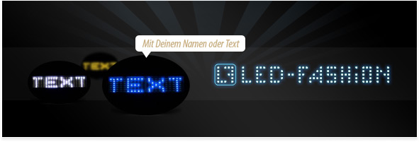 led namensschild mit laufschrift selber machen your presents. Black Bedroom Furniture Sets. Home Design Ideas