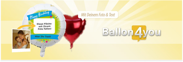 fotoballon selbst gestalten ballon4you your presents. Black Bedroom Furniture Sets. Home Design Ideas