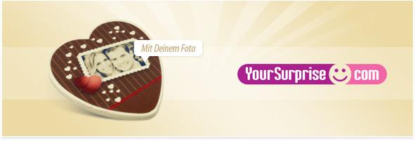 Schokoladenherz mit Foto