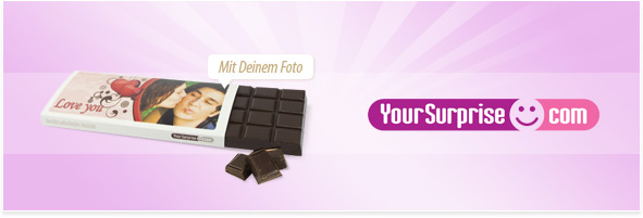 Schokolade mit Foto bedrucken