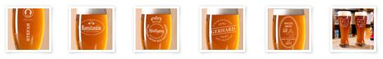 Die Gravuren für Ihr Bierglas