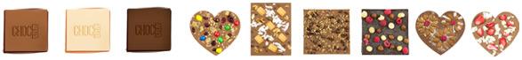 Individuelle Schokoladen mit Wunschzutaten