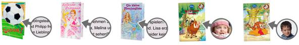 Personalisierte Kinderbücher mit Foto