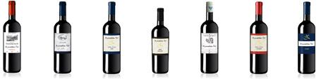 Edler Rotwein mit eigenen Etikett