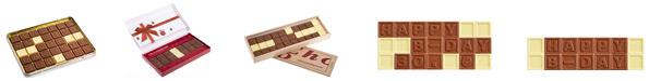 Die Schokoladennachricht zum vernaschen