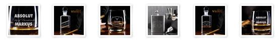 Whiskey Gläser und Karaffen