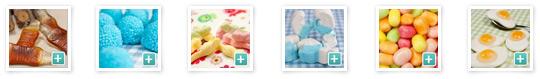 Süßigkeiten aus verschiedenen Kategorien