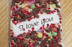 Die 2 Schokoladen-Variante mit dem Dekor: I love You
