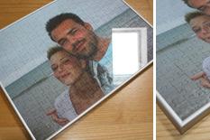 Fotopuzzle im Glasrahmen